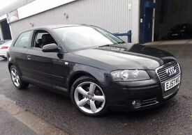 Audi A3 2.0 tdi Sport, black, mint condition with Bose sound system