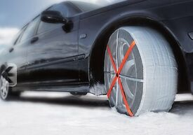Snow Socks for large wheeled cars