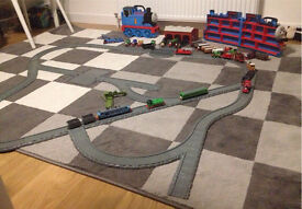 Thomas tank engine ERTL tracks,die cast models, 2 carry cases and books
