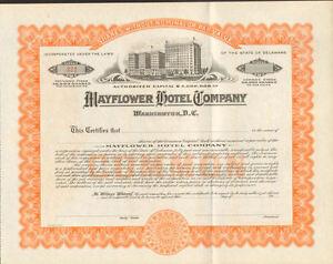 Mayflower-Hotel-Company-Washington-DC-stock-certificate