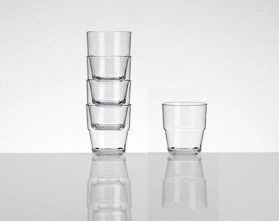 Klar Tumbler (4 Camping Picknick Party Acryl Gläser Tumbler Wasser Glas Kunststoff Set klar)