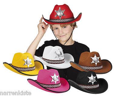 Kinder Western Kostüm (Cowboy Wilder Westen Western Hut Kinder Sheriffhut Kostüm Cowboyhut Cowboykostüm)