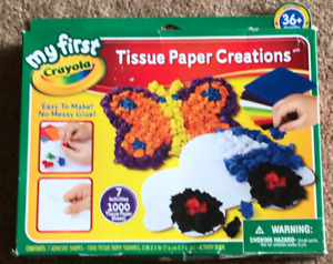 My First Crayola Tissue Paper Creations Brand New