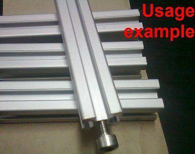 Aluminum T-slot Extruded Profile 20x20-6mm L 200mm 1x Thread M6 4 Pieces Set