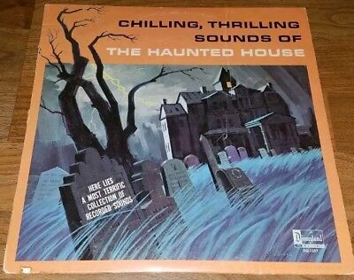 Disneyland Chilling Thrilling Sounds of the Haunted House Vinyl LP Halloween VTG - Vintage Halloween Records