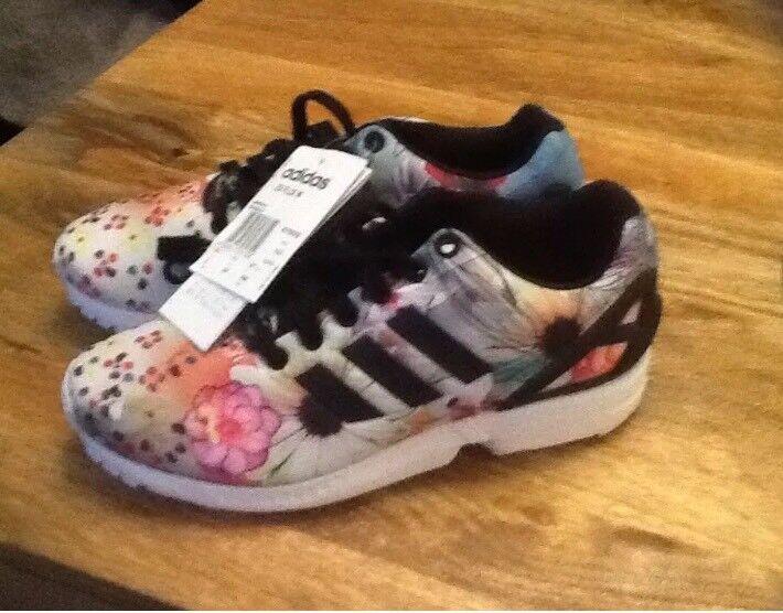 Adidas originals ZX flux blackfloral trainers uk 4.12 | in Chatham, Kent | Gumtree