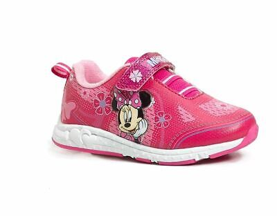 DISNEY HOT PINK WITH FLOWER SNEAKERS - New - Size 11 (TODDLER) ()