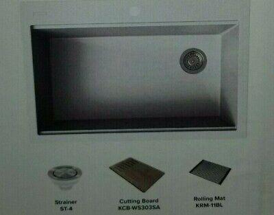 Kraus KGTW1-33WH 33 inch Drop-In Granite Single Bowl Kitchen Sink New