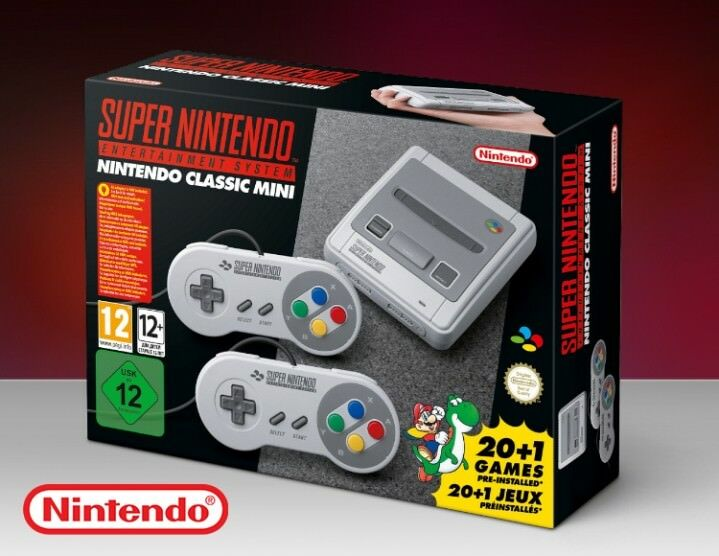 SUPER NINTENDO MINI SNES ENTERTAINMENT SYSTEM CLASSIC EDITION NES EU NEW