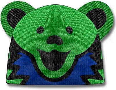 Green Grateful Dead Bear (New Stylish Grateful Dead Green Dancing Bear Adult Beanie Hat Winter Soft)