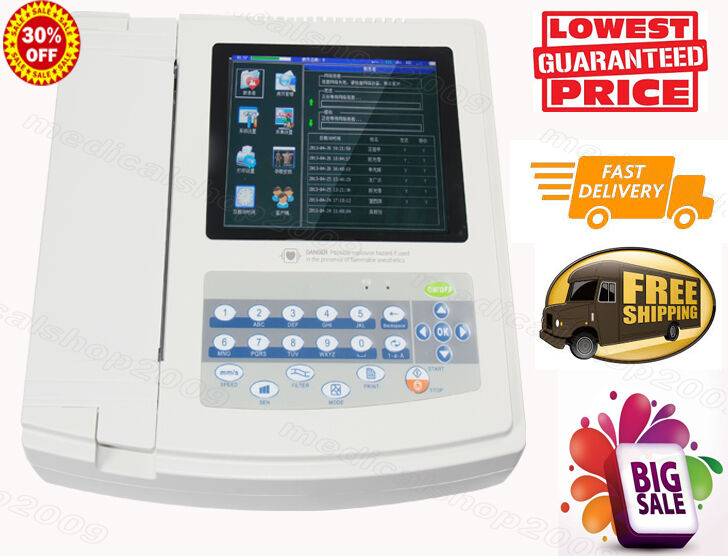 CONTEC 1200G  Digital 12-channel ECG /EKG machine Electrocardiograph PC software