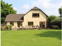 Smallholding with 4 Acres, 3 Stables and Sand Manege, 5 Bedroom Modern Detached House with Hot-tub.