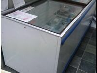 Commercial Double Chest Freezer with Sliding Doors