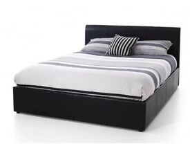 *NEW* DOUBLE LEATHER BED + FREE 9 INCH MATTRESS + FREE QUILT £99- SAME DAY DROP OFF