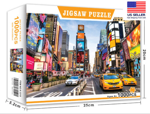 NEW YORK TIME SQUIRE 1000 PIECE JIGSAW PUZZLES education KID ADULTS PUZZLE TOY