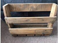 Wooden wine rack wall mount