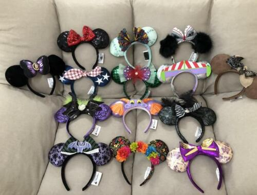 Disney Parks Minnie mickey mouse sequin Purple Aulani Gold EARS COSTUME Headband
