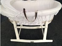 Clare De Lune Moses Basket with Rocker