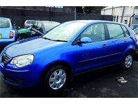 VOLKSWAGEN VW POLO 2005 58,000 MILES 1.4 DIESEL 5 DOOR HATCHBACK MANUAL BLUE