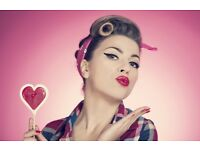 Very Vintage Valentines Pinup Hair & Make Up Class Tuesday 14th February 6.45pm Glasgow