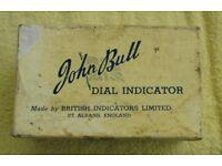 John Bull dial gauge - like new