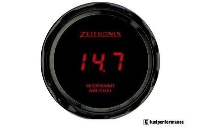 Zeitronix Zt-3 & ZR-3 Wideband Gauge with Data Logging (RED Digits / Black Beze)
