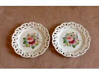 Two lovely Ribbon Plates with matching design