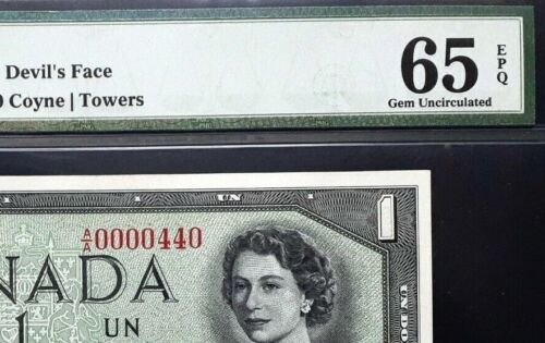 1954 Bank of Canada $1 Devil