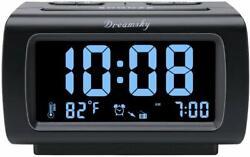DreamSky Decent Alarm Clock Radio with FM Radio, USB Port for Charging,