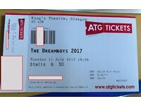 The Dreamboys 2017, King's Theatre Glasgow, 11/07/2017, 2x Tickets