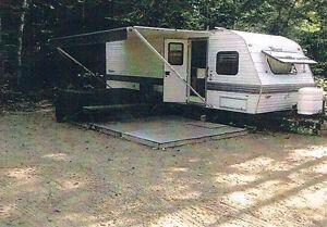 Roulotte + Camping permanent ZEC Lavigne