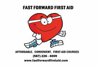 First Aid courses for only $125! *Red Cross certifications!*