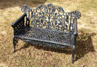Beautful Cast Iron 2-seater Garden Bench- Victorian-style