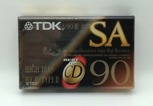 Five (Brand New) Type II 90 min. TDK & Sony Audio Cassette Tapes