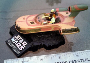 Star Wars Micro Machines Action Fleet LANDSPEEDER Luke ObiWan