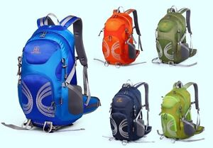 Orange 40L wn Hydration Backpack Camping Bag Hiking Daypacks