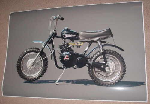 1971 RUPP BLACK WIDOW MINIBIKE MOTORCYCLE POSTER PRINT STYLE B 16x24 9 MIL PAPER