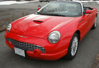 Torch Red 2002 Ford TBird Deluxe Convertible w/ Hard Top