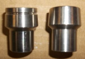 "2 - 5/8""  X 18  Round Weld In Tube Adapters Left & Right Threads"