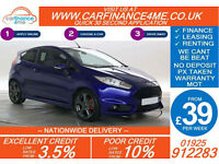 2014 FORD FIESTA 1.6 ECOBOOST ST2 GOOD / BAD CREDIT CAR FINANCE FROM 39 P/WK