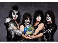 2 (Two) x Kiss Concert Tickets Standing - The SSE Hydro, Glasgow, Sat 27 May 2017, 18:30