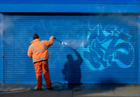Small graffiti cleaning