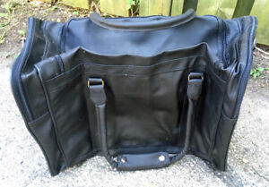 NEW black luggage bag (with zippered insert)