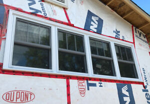 White Double Hung PVC Window
