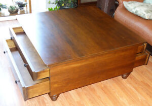 Solid maple BG Furniture coffee table for sale
