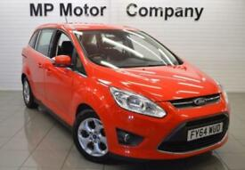 2014 64 FORD GRAND C-MAX 1.6 ZETEC TDCI 5D 114 BHP 6SP DIESEL 7 SEATER MPV, RED