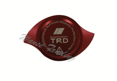 Red Anodized CNC Aluminum TRD Radiator Cap Protection Guard Cover UNIVERSAL