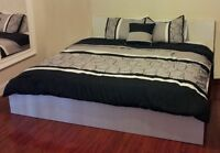 Ikea Queen White Malm Bed - +free delivery