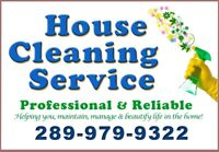 HOUSE CLEANING SERVICE – Satisfaction Guaranteed!