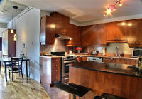 Bright!!!1 Bedroom Loft Style in Quartier Latin available July 1